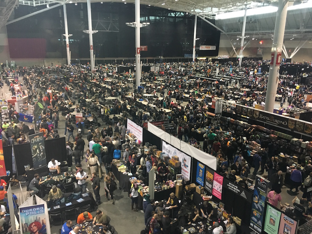 The exhibition floor at PAX East. photo by Corrina Lawson